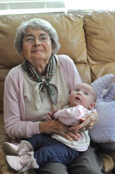 Grandma Gascho with Brystol - August 2013