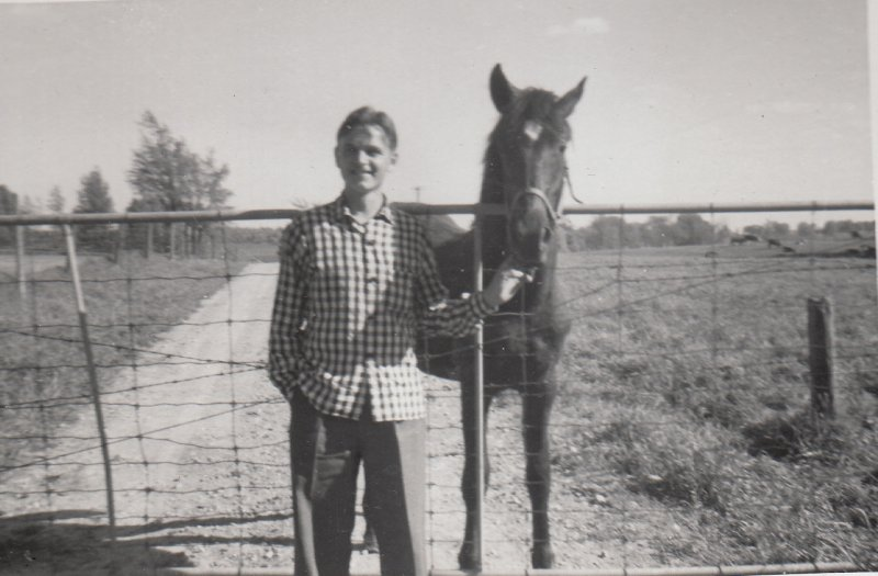 1954 with the horse1