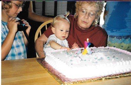 Karlie's 1st Birthday With Grandma