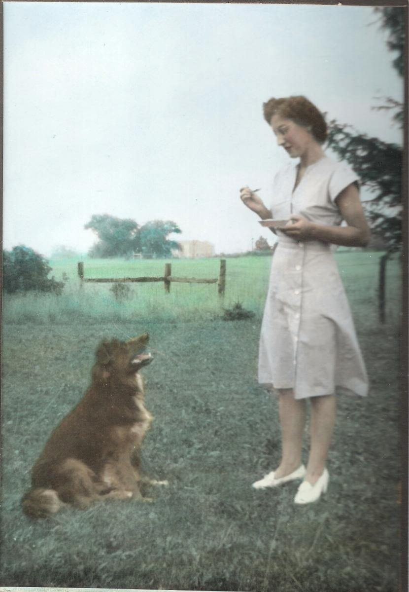1946-Aunt-Doris-and-dog