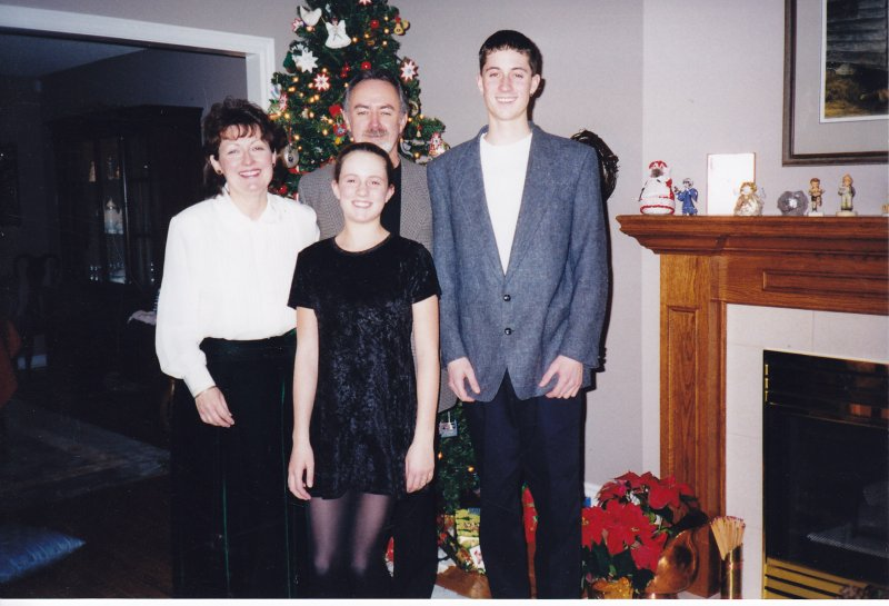 174. Christmas 1998 Deb and Bruce Grant, Jeff (17) and Brittany (13)