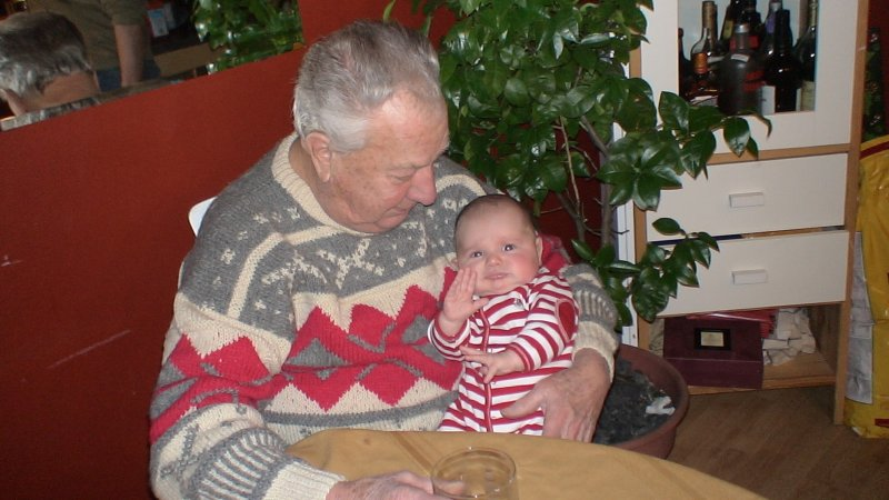 Christmas 2005 Dad and Gabriel at 3 months