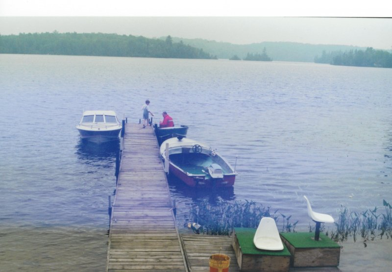 Cottage marina with Karl's skow