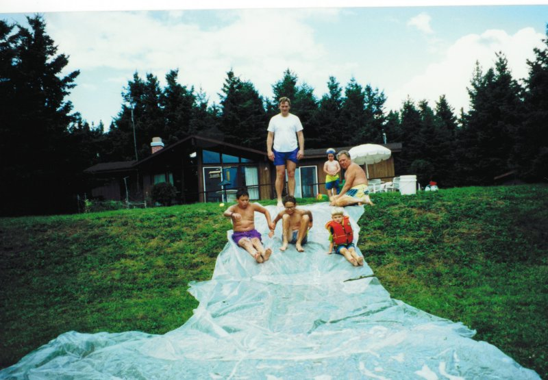 Cottage water slide in 90's