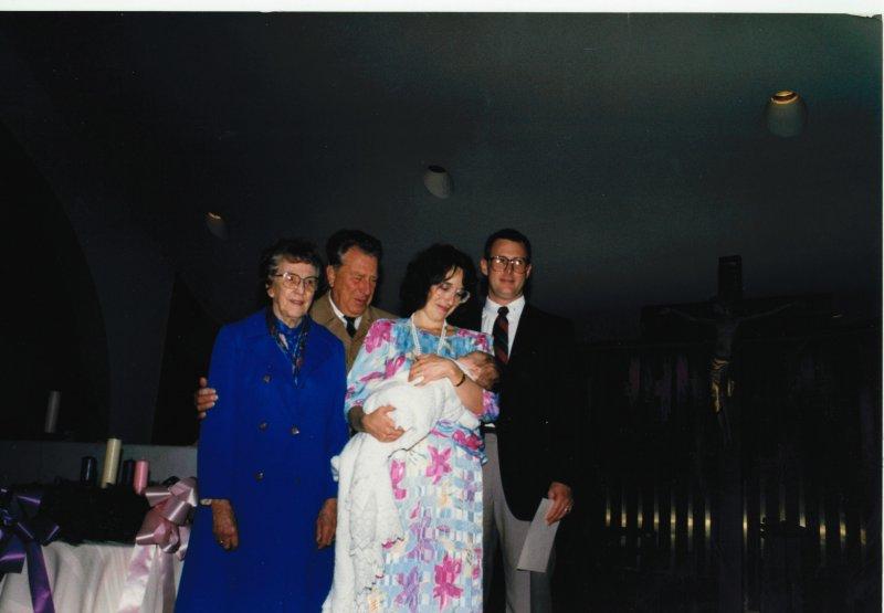 Dad Grandma Mary C. Johnand andrew 1984