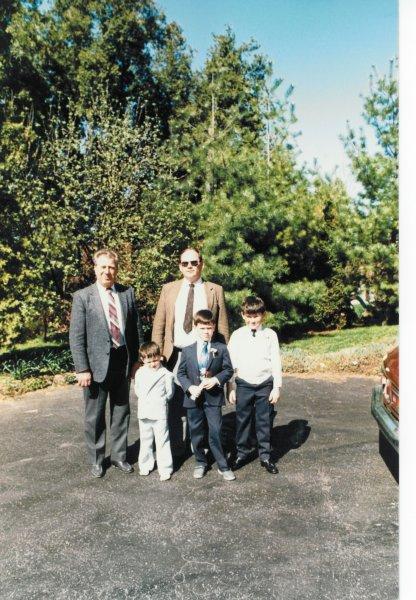 Dad Ken and 3 boys Paris 1984