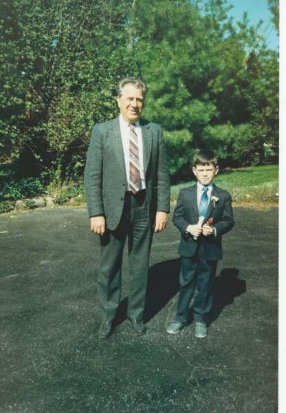 Dad and David first communion