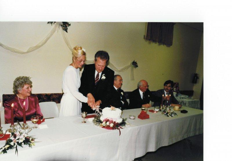 Dad and Elsie at wedding