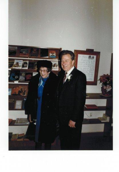 Dad and Grandma at wedding