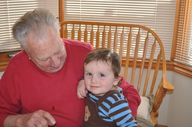 Dad and Noah in Exeter 2008