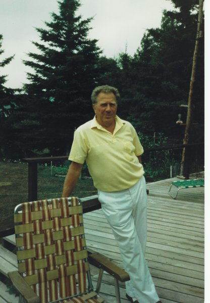 Dad at cottage in 80's