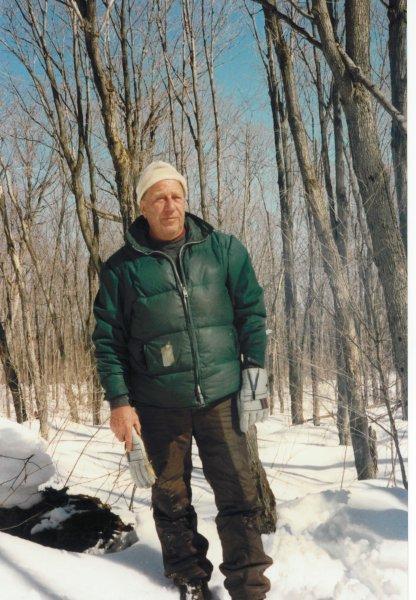 Dad winter cottage 1988