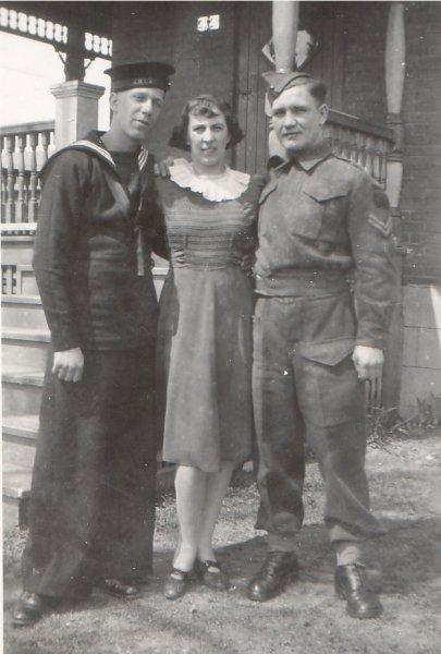 Dads old photos13 Bob an Ken as sailors