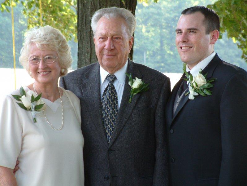 David wedding Dad Elsie and the Bride and Groom