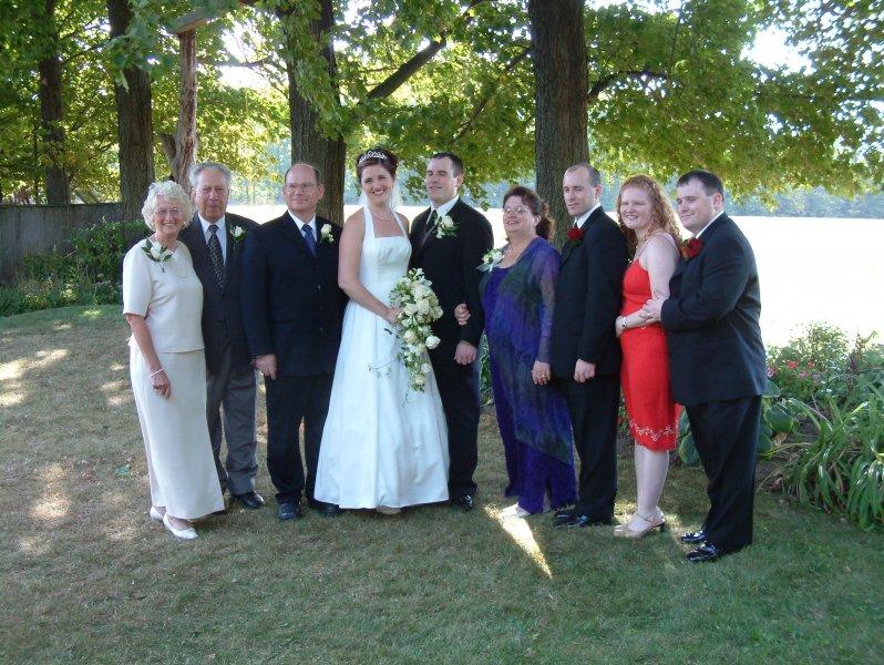 David wedding family photo
