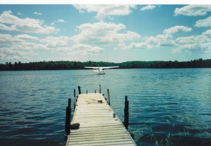 Karl seaplane at the cottage