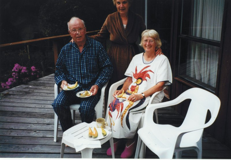 Ruth and Harry at cottage2 2000