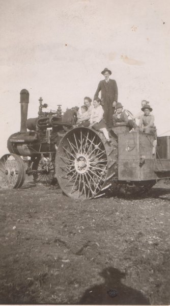 Tractor picture of Western folks Mother Petrie sister and sister in law