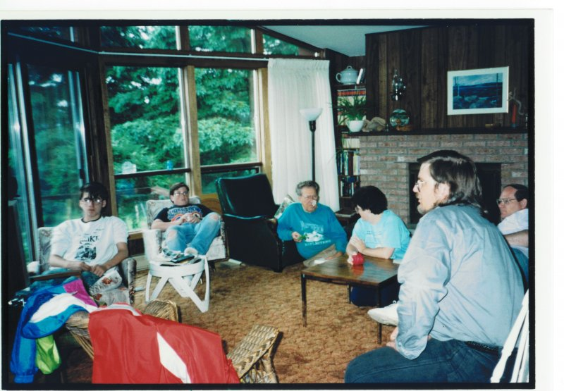 cottage 1992 family in living room