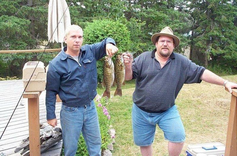 fishermen at cottage 2002