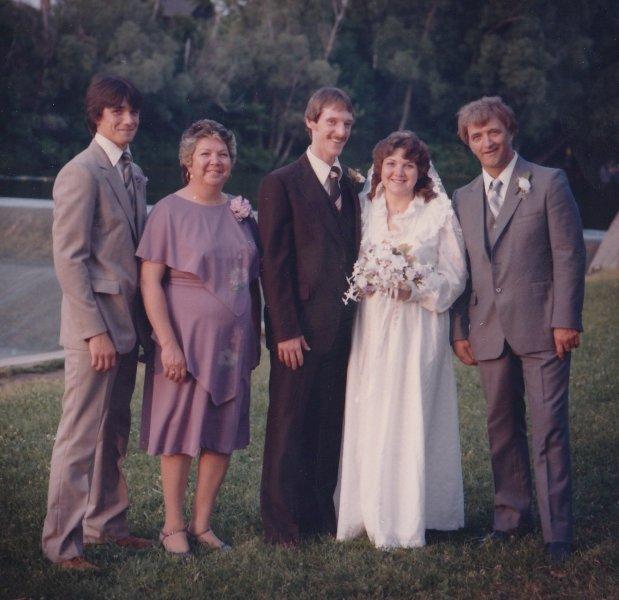 Derek, Mom & Dad with Stan & I at my wedding
