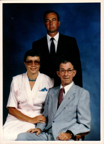 Dad with Joe and Mary (1990)