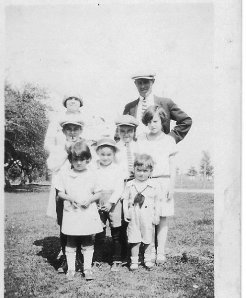 Christine & Tim with Hugh Leonard, Madeline Bernice, Jim and
