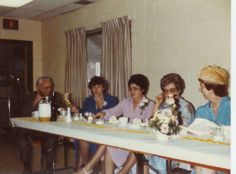 Clem, Maureen, & Betty O'Leary, Bernice Pinkerton, & Mary O'