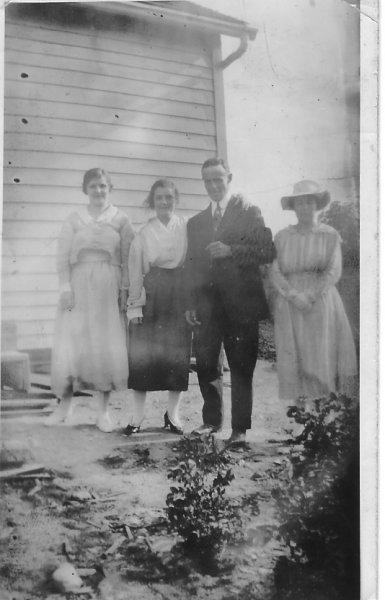 Emma Rowlands & Aunt Blanch adams , Tim & Christine O'Leary
