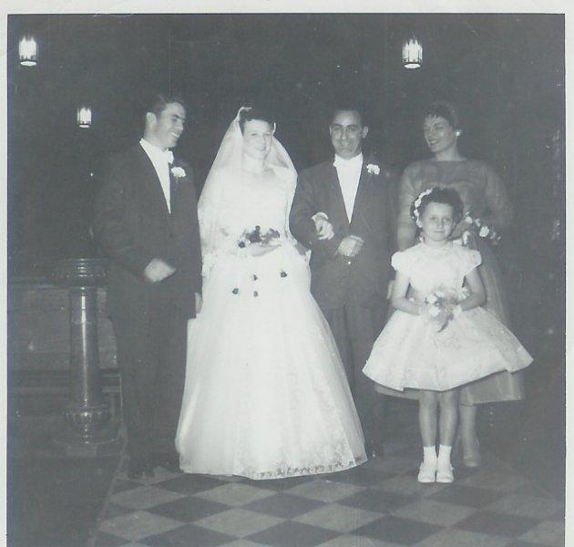 John, Kathleen, & Clem O'Leary, Joy- Bridesmaid, Bonnie-- Fl