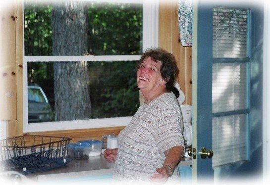mom at cottage
