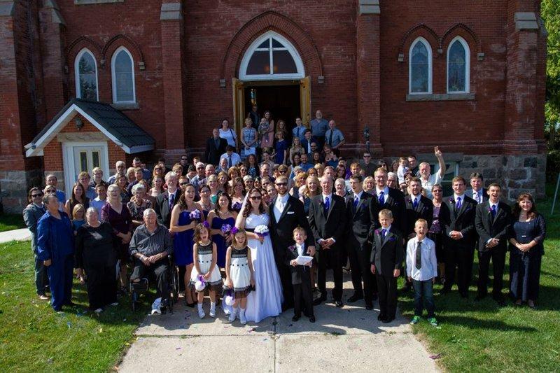 Mark & Sarah Wedding Group Photo