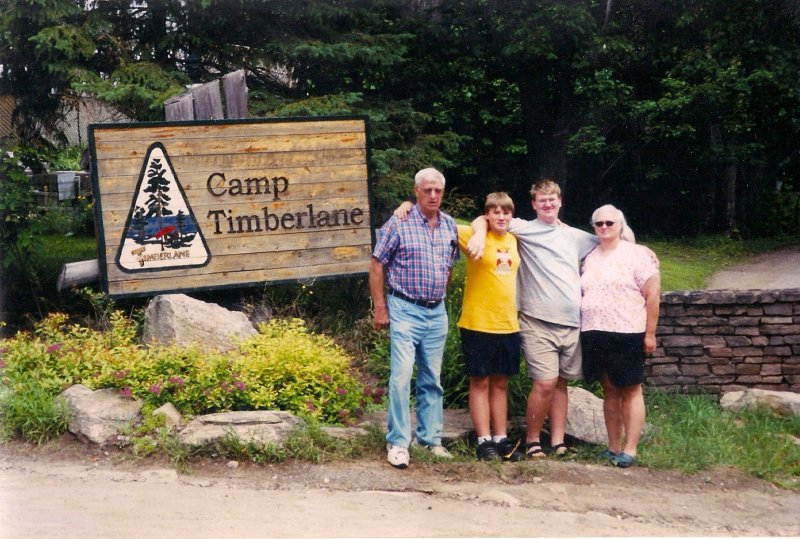 Ross Cheryl Jamie Mark at Jamies Camp Job