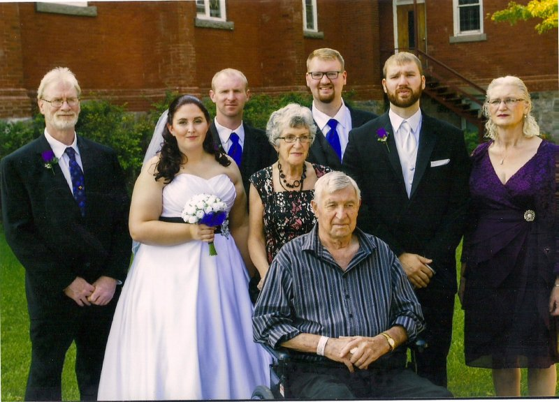 Ross Marj Mark Sara Wedding with Chuck Cheryl Craig Jamie