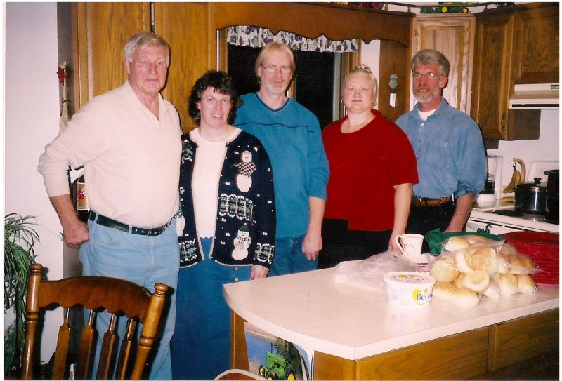 Ross Sheila Ron Charles at Christmas