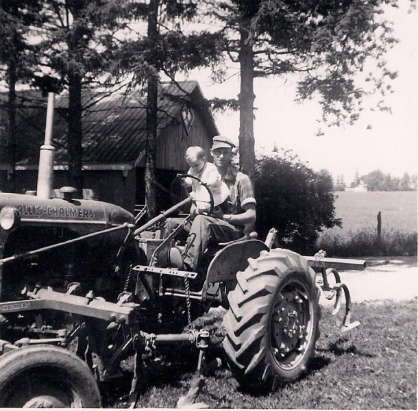 Ross and Cheryl on Tractor