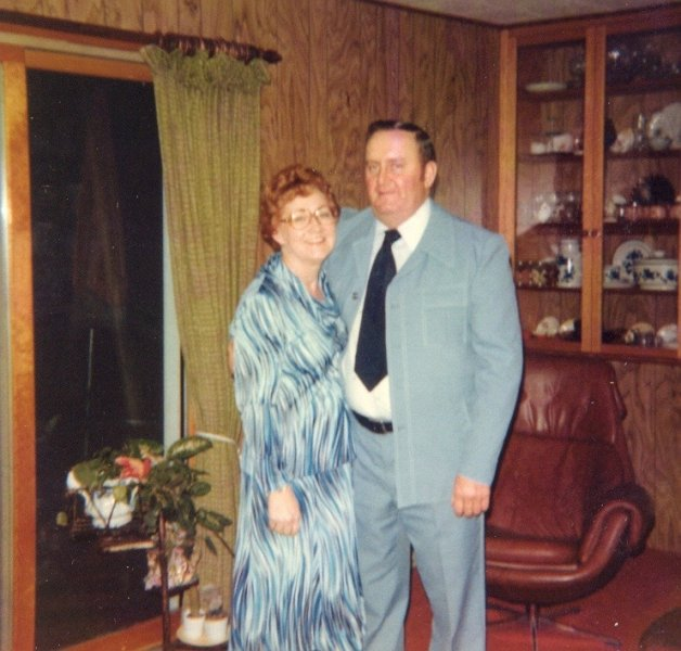 Mom and Dad Blue Suit