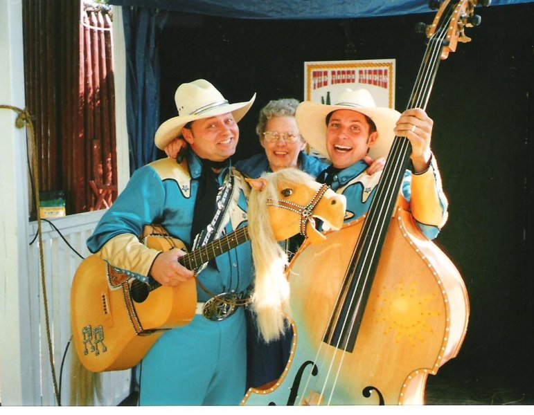 2002-07-09-josie-at-stampede-with-rodeo-riders-entertainers