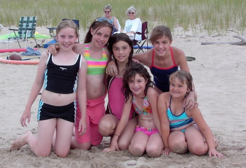 The Girls beach Day Jul07