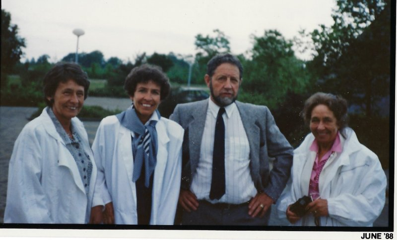 Albert with 3 of 5 sisters 1988
