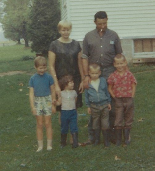 Farm 1960's mom dad Teresa Bart Charles Landa close up
