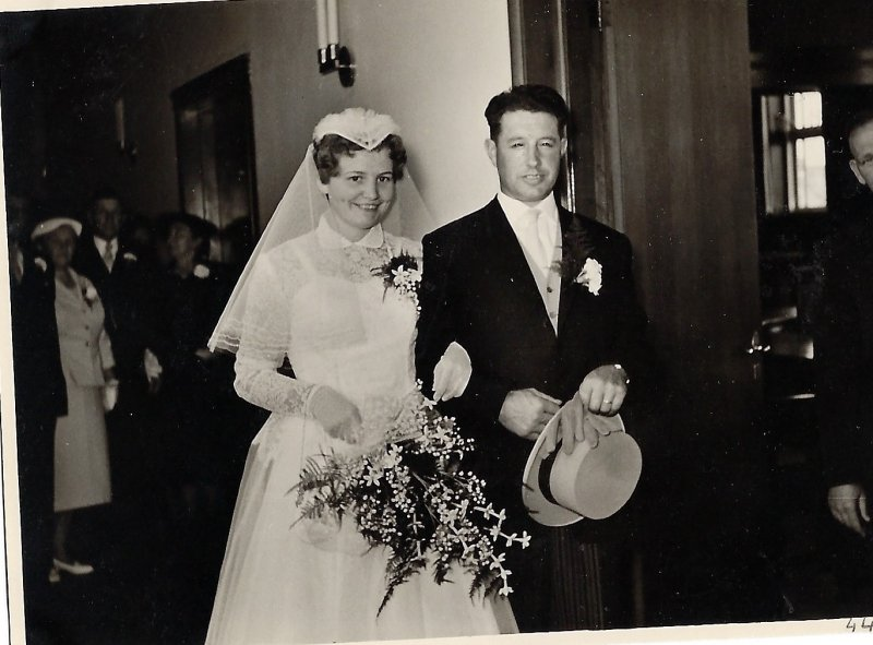 Wedding day 1959 together