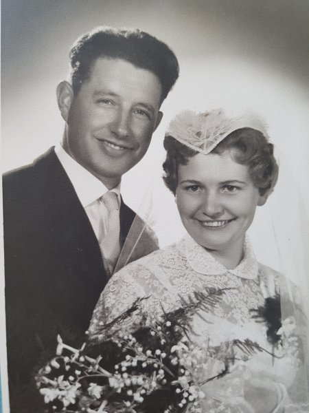 wedding photo opa oma 1959
