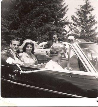 Bob & Laurel wedding, & Betty Peckham