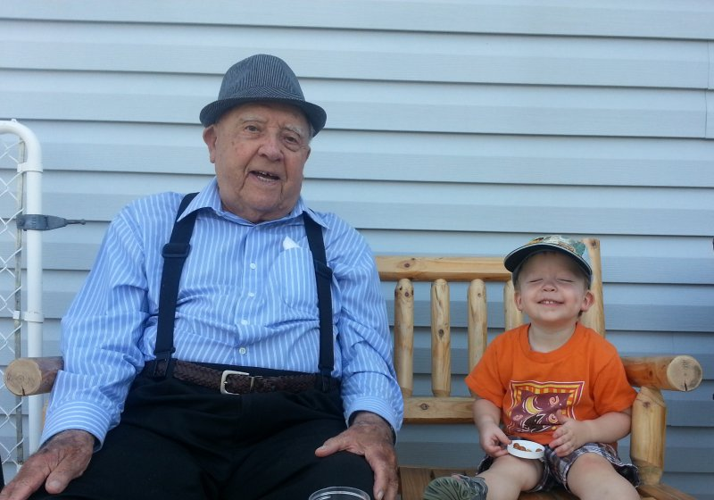 Great Great Grandpa & Austin '14